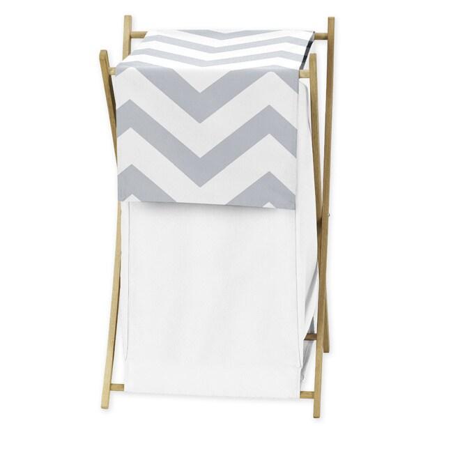 Sweet Jojo Designs Grey and White Chevron Hamper at Sears.com