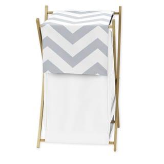 Sweet Jojo Designs Grey and White Chevron Hamper