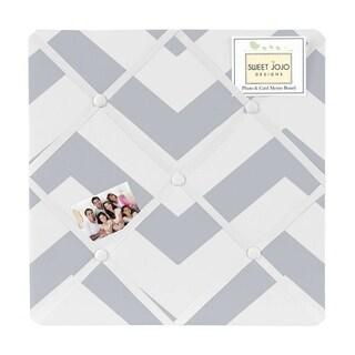 Sweet Jojo Designs Grey Chevron Fabric Photo Bulletin Board