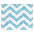 Sweet Jojo Designs Turquoise/ White Chevron Floor Rug