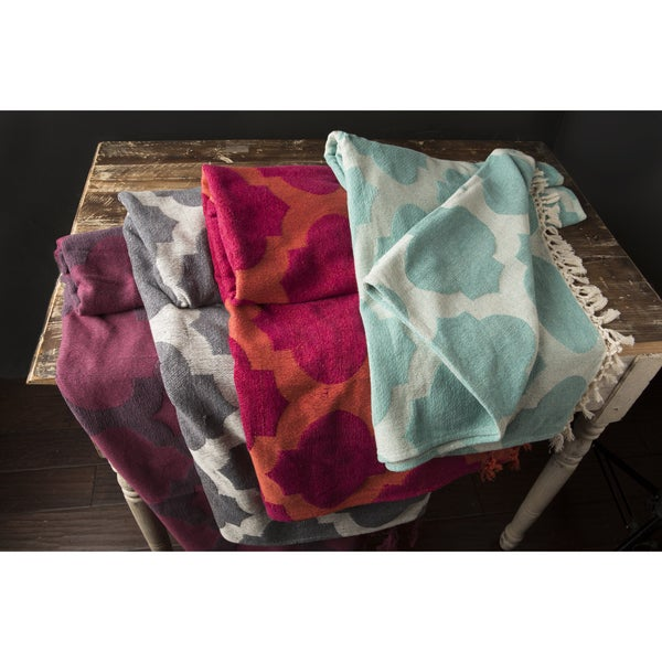 Perry Cotton Moroccan Trellis 50x70-inch Throw