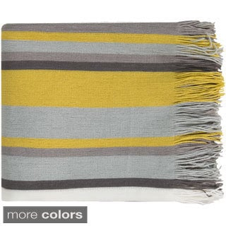 Corey Acrylic Woven Striped 50x60-inch Throw