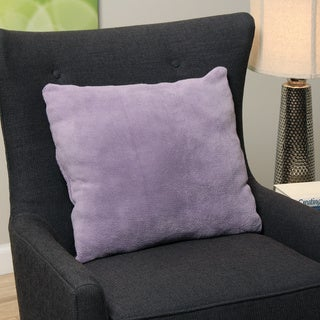 Plush Light Purple Decorative Throw Pillow