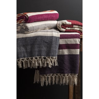 Troy Cotton Striped 50x70-inch Throw