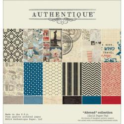 Abroad Paper Pad 12 X12 24/Sheets - 12 Double-Sided, Textured Designs/2 Each