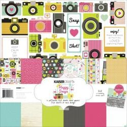 Happy Snaps Paper Pack 12 X12 - 6 Double-Sided Designs/2 Each + Stickers