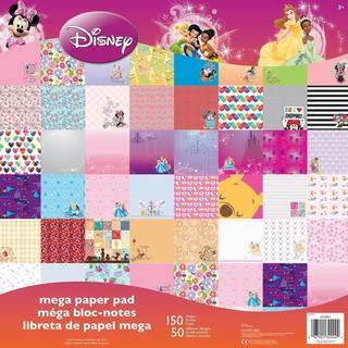 Disney Mega Paper Pad 12 X12 150/Sheets - Girl, 50 Designs/3 Ea