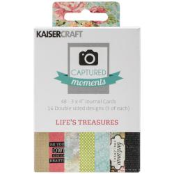 Captured Moments Double-Sided Cards 3 X4 48/Pkg - Life's Treasures