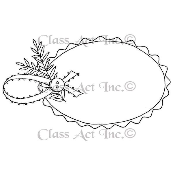 Class Act Cling Mounted Rubber Stamp 3 X5.5 - Gift Tag