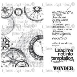 Chapel Road Cling Mounted Rubber Stamp Set 5.75 X7.75 - Find Your Way