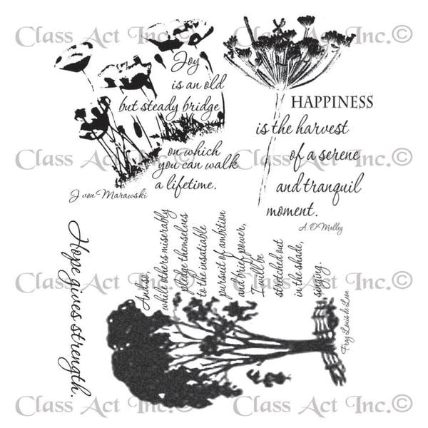 Chapel Road Cling Mounted Rubber Stamp Set 5.75 X6.75 - Picture Poems