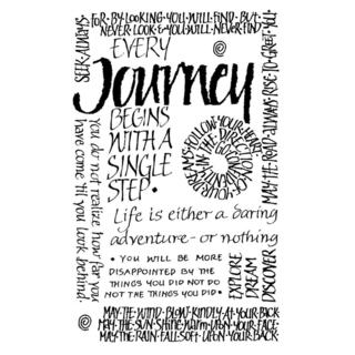Crafty Individuals Unmounted Rubber Stamp 4.75 X7 Pkg - Journey Calligraphy