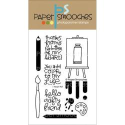 Paper Smooches 4 X6 Clear Stamps - I Heart Art