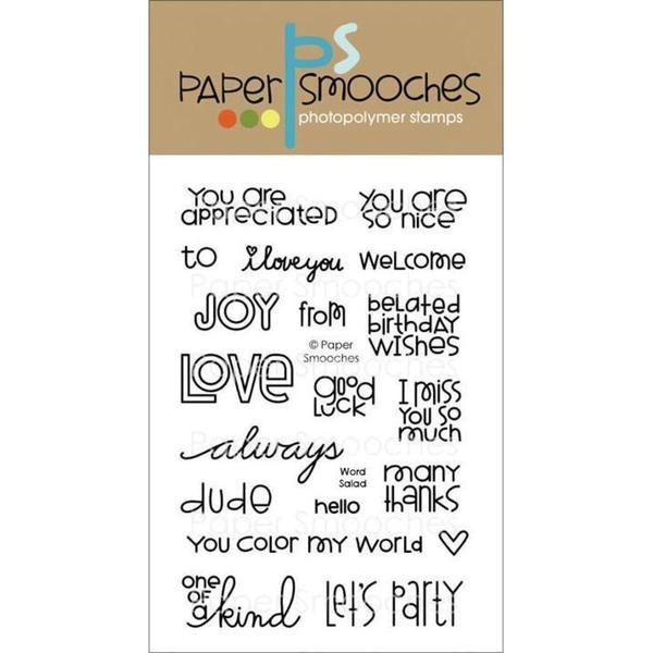 Paper Smooches 4 X6 Clear Stamps - Word Salad