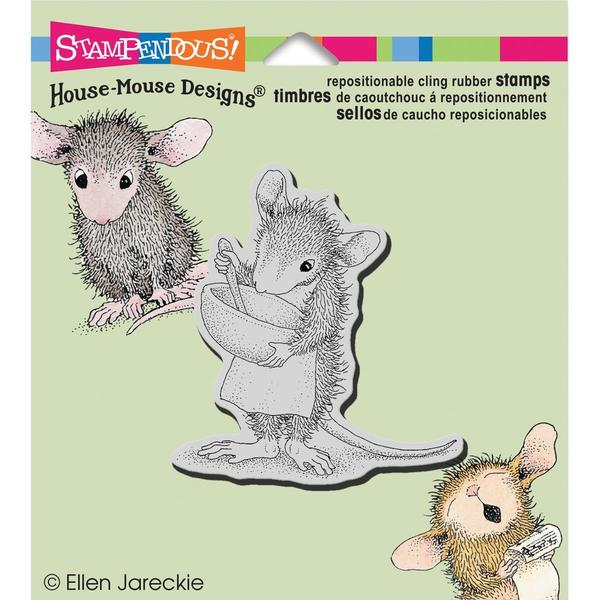 Stampendous House Mouse Cling Rubber Stamp 3.5 X4 Sheet - Mix It Up