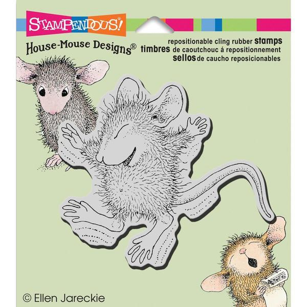 Stampendous House Mouse Cling Rubber Stamp 3.5 X4 Sheet - Tiny Jumper