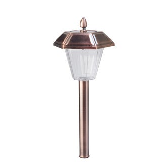 Moonrays Stafford 2X Brushed Copper Path Light, 4 pk