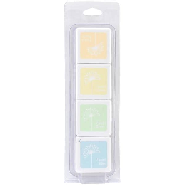 Hero Arts Dye Inks 4 Color Cubes - White Pastel 12609047