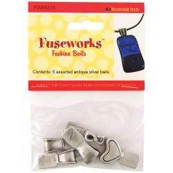 Fuseworks Fashion Bails 5pc - Antique Silver