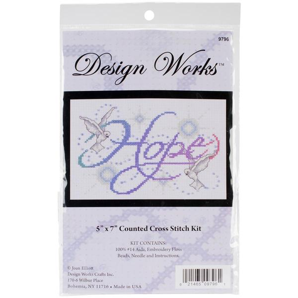 Hope Counted Cross Stitch Kit - 5 X7 14 Count