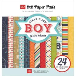 That's My Boy Cardstock Pad 6 X6 24/Sheets - Double-Sided