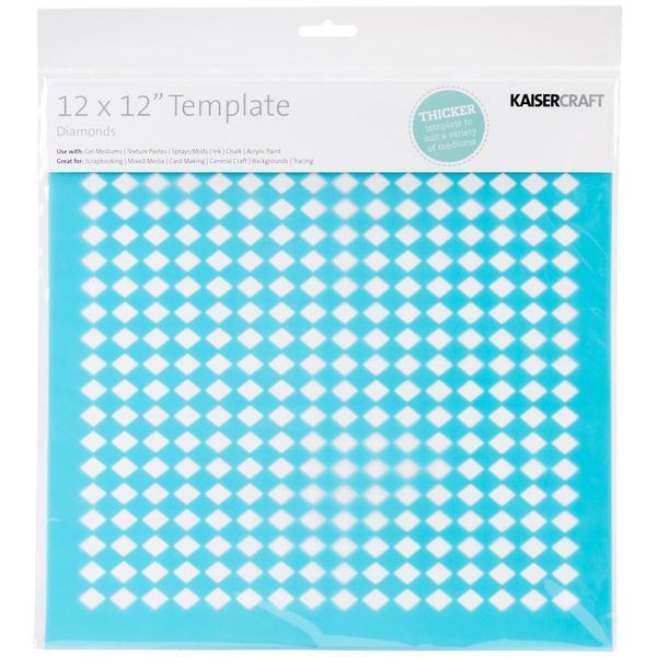 Template 12 X12 - Diamonds
