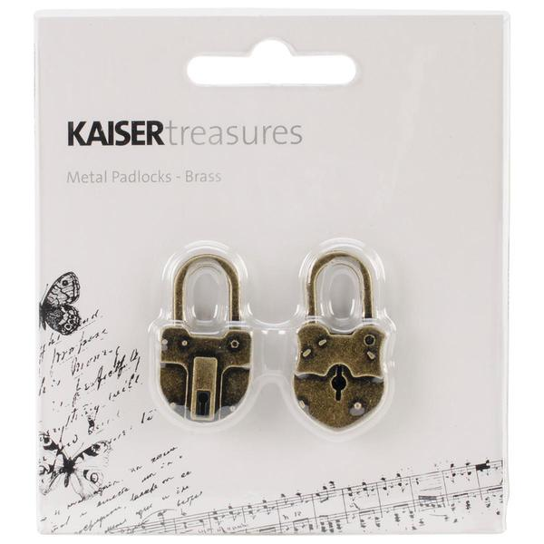 Treasures Metal Padlocks 1.5 X.75 X.25 2/Pkg - Antique Brass