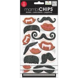 Chipboard Value Pack - Lips & Mustaches