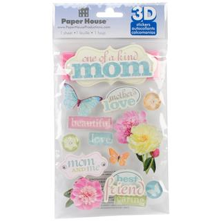 Paper House 3-D Sticker - Mom
