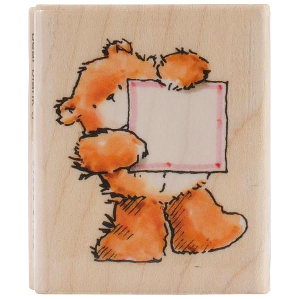 Penny Black Mounted Rubber Stamp 1.75 X2 - Bear Blank 3