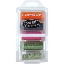 Stampendous Stack Art Elements Kit 5/Pkg - 70s