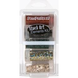 Stampendous Stack Art Elements Kit 5/Pkg - Survival