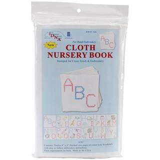 Stamped Cloth Nursery Books 8 X8 12 Pages - ABC