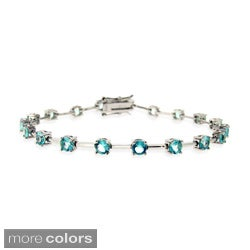 Icz Stonez Sterling Silver Colored CZ Bracelet