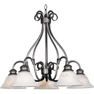 Pacific 5-light Pewter Chandelier