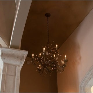 Elegante Crystal 9-light Bronze Chandelier