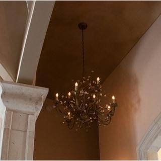 Elegante Crystal 9-light Bronze Chandelier
