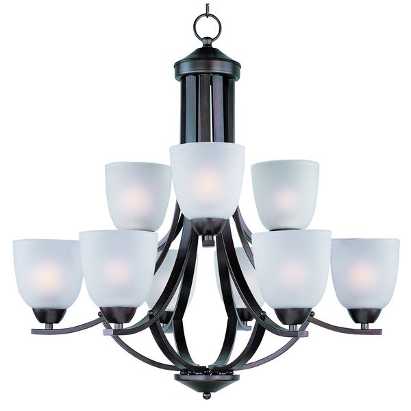 Axis 9-light Oil Rubbed Bronze Chandelier