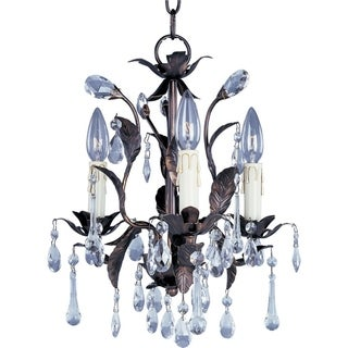 Grove Crystal 3-light Oil Rubbed Bronze Chandelier