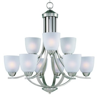 Axis 9-light Satin Nickel Chandelier