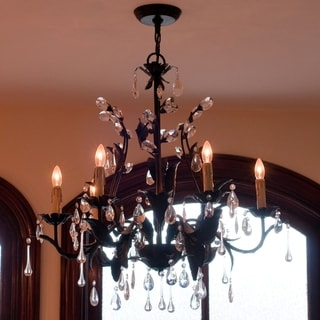 Grove Crystal 6-light Oil Rubbed Bronze Chandelier