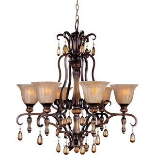 Dresden 6-light Filbert Bronze Chandelier