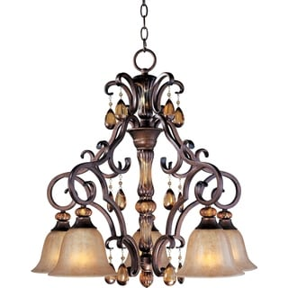 Dresden 5-light Filbert Bronze Chandelier