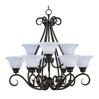 Pacific 9-light Kentucky Bronze Chandelier