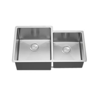 VL 33-inch 18-gauge Stainless Steel Double Bowl Undermount Tight Radius Square Kitchen Sink