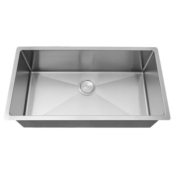 VL 33-inch 18-gauge Stainless Steel Undermount Tight Radius Kitchen Sink