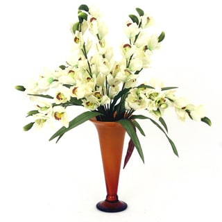 Tropical Vanda Orchid Silk Arrangement