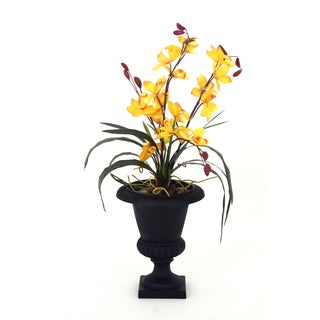 Tropical Deendrobium Orchid Silk Arrangement