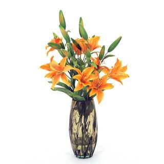 Tropical Silk Tiger Lilies Arrangement