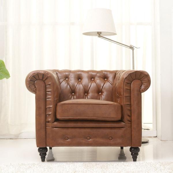 Gold Sparrow Arlington Chestnut Arm Chair